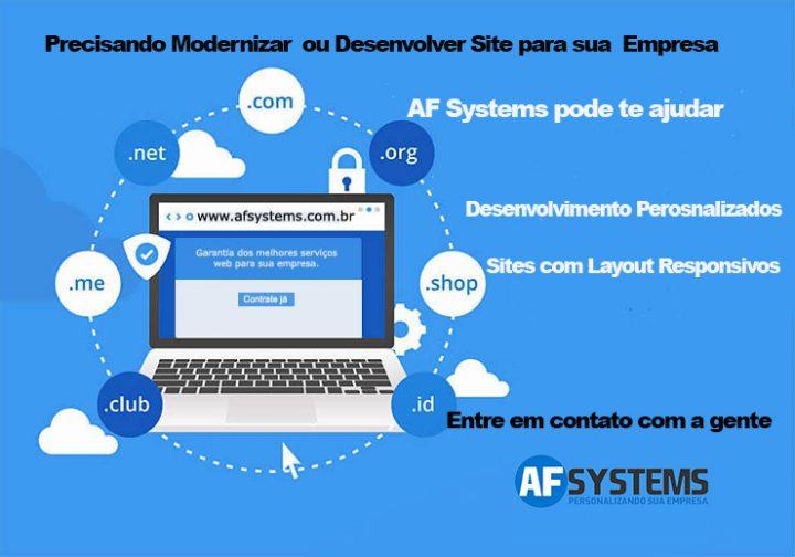 Desenvolvimento de site é com AF Systems