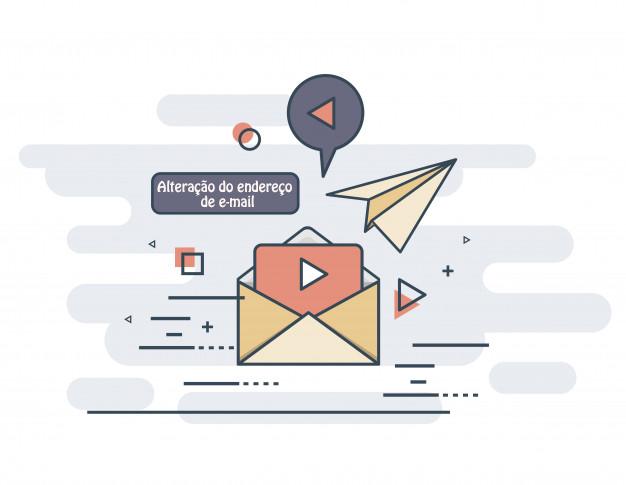 Precisou mudar de endereço de E-mail, e agora o que fazer ?