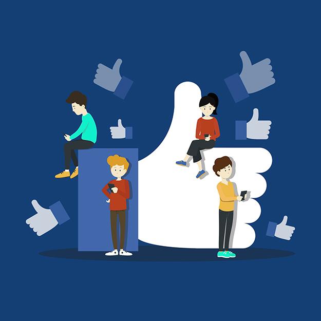 Modo escuro do Facebook