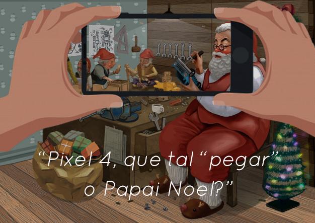 "Visão noturna do Pixel 4 permite ""pegar"" o Papai Noel"