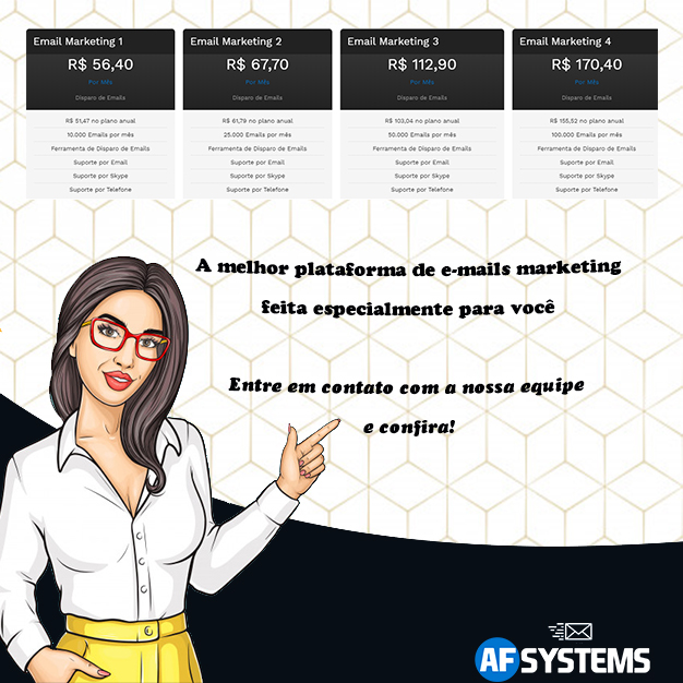 E-mail Marketing, AF Systems. Surpreenda seus clientes com seu Marketing Digital