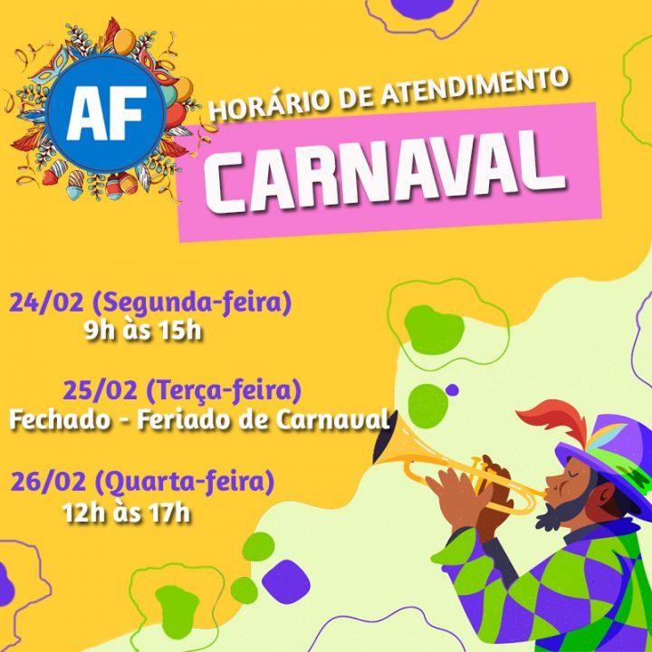 Horário de Atendimento – Carnaval