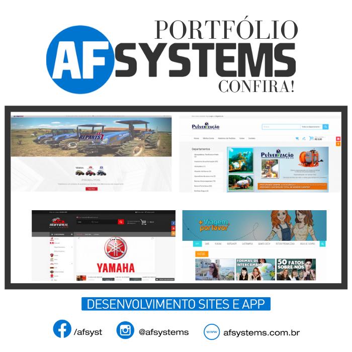 Portfólio AF Systems, Confira!