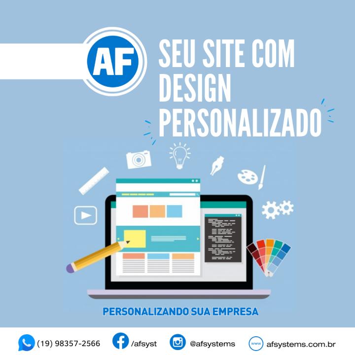 Site com design personalizado