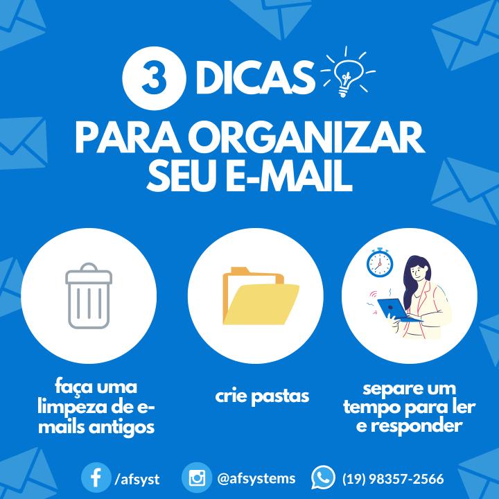 Dicas de organização do E-mail
