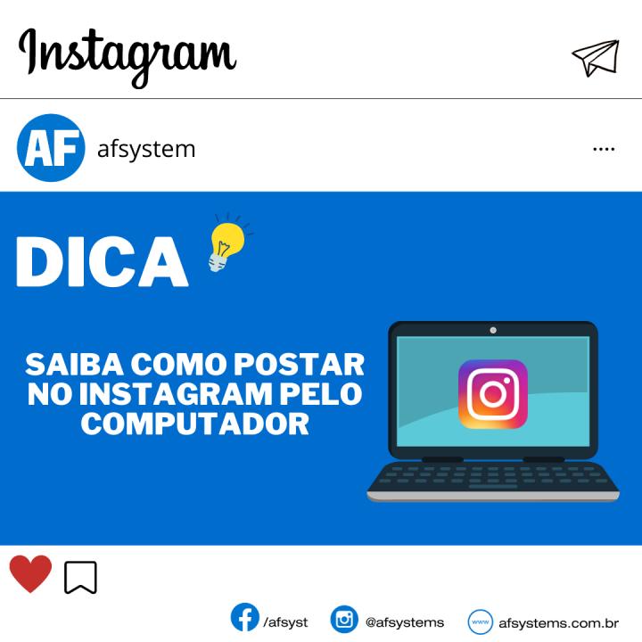 Dica como postar no Instagram pelo computador