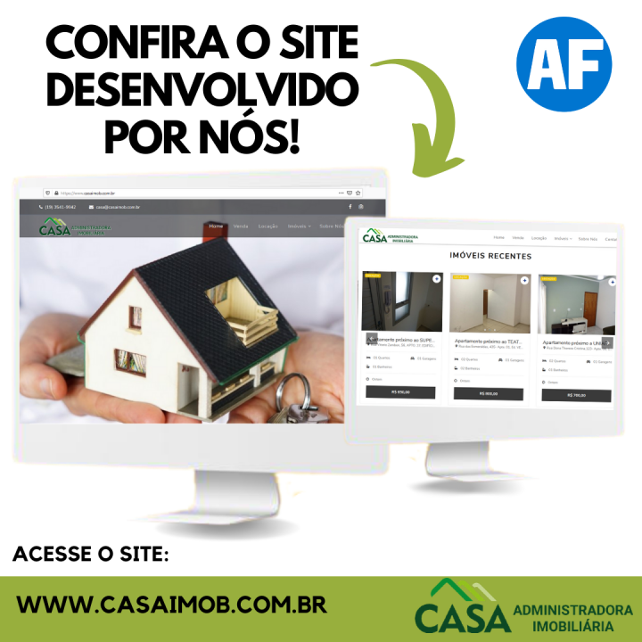 Site Casa Administradora imobiliária